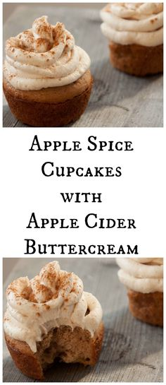 Apple Spice Cupcakes with Apple Cider Buttercream (10/12)