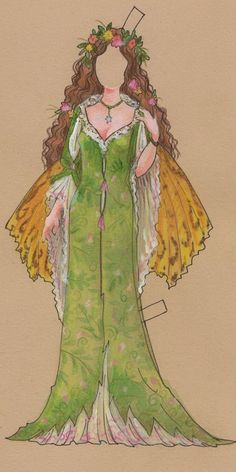 Jeff Davis Illustration: Titania Paper Doll