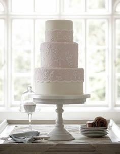 Dusky Lace Wedding Cake
