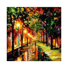 imgfave | FFFFOUND! / Paintings by Leonid Afremov / unstage ❤ liked on Polyvore