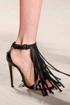 Marios Schwab, Spring 2013   London Fashion Week, fringed ankle strap