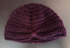 Crocheted turban inspired hat for ages 3-6 months