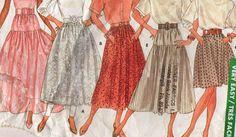 Vintage Sewing Pattern / Butterick 5956 / Women's Skirt