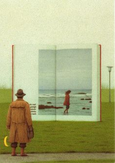 On the way to the Books. Quint Buchholz. Inkognito card
