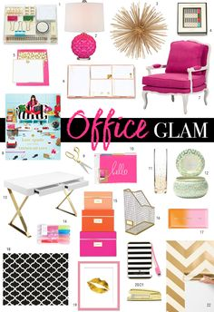Pink and gold office                                                                                                                                                                                 More