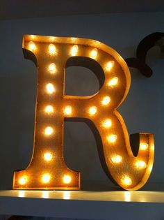 Vintage Marquee Lights  Letter R by VintageMarqueeLights on Etsy, $199.00
