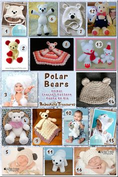 Polar Bears - Animal Crochet Pattern Round Up | Just Crochet | Scoop.it