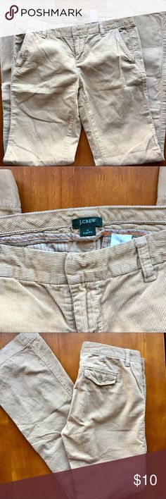 J. Crew Light Brown Corduroy Pants Perfect for fall- light brown corduroy pants from J. Crew- nice and long! Size 2 preloved J. Crew Pants Boot Cut & Flare