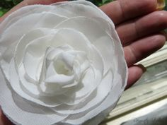 Wedding Hair Flower  Ivory Chiffon Rose Hair by RainwaterStudios, $32.00