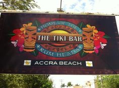 Spend a day at Tiki Bar, Accra beach. Great cocktails and food on a beautiful South coast beach. The sea is so clear you can see your toes!