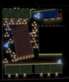 Planta de conjunto / Proyecto de iluminación para un proyecto de Oaxaca / Noriegga Iluminadores Arquitectónicos