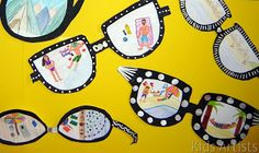 A very nice art activity to use for writing.  Kids Artists: Sunglasses