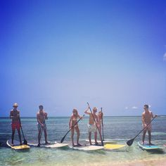 """""""Good day for #paddleboarding on #mustique in #PinkHouseMustique #bikinis and #swimshorts ☀️"""" Photo taken by @pinkhousemustique on Instagram, pinned via the InstaPin iOS App! http://www.instapinapp.com (01/07/2015)"""