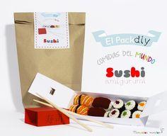 El Pack - Comidas del mundo - Sushi -Kit amigurumi