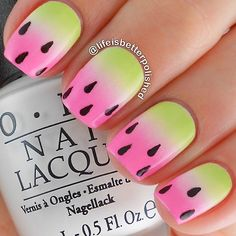 cute watermelon gradient nails #fav by lifeisbetterpolished Iconosquare – Instagram webviewer