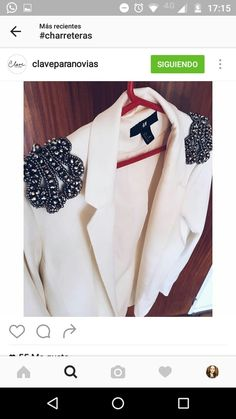 Hombreras Look Fashion, Girl Fashion, Fashion Outfits, Fashion Design, Custom Clothes, Diy Clothes, Executive Outfit, Sewing Sleeves, T Craft