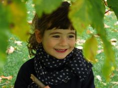 polka dot scarf.  I love scarves on little girls!