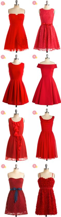 {colour} red bridesmaid dress inspiration (never mind the fact that we already *have* her dress!)
