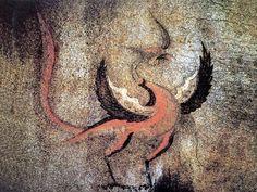 주작-강서대묘 사신도  -남방을 관장하는 오방신(五方神)의 하나. 붉은 봉황을 형상화 하였으며, 옛날 무덤의 남쪽 벽에 그렸음.