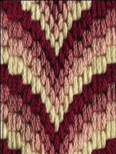 Information about Bargello Needlepoint. Join us for our next Craft Night on Wednesday Sep 10, 2014 to get hands on instruction in this beautiful needlepoint technique