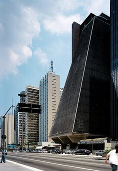 The striking FIESP building by modernist architect Rino Levi, one of the major landmarks of in São Paulo, Brazil. Beautiful Architecture, Beautiful Buildings, Wonderful Places, Beautiful Places, Brazil Travel, Beautiful Sites, Largest Countries, Concrete Jungle, Modern Buildings
