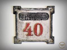 Antique WW1 House Number  Cast Iron  1910's by VintageMedreana, $44.00