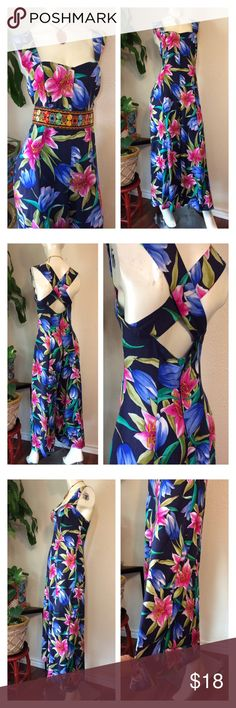 """Vintage 80's Jumpsuit Floral Hippie Super Wide Leg Women's Jumpsuit Vintage size 9/10 overall good vintage condition by Madison Wells (Belt not included)  Approx Measurements laid flat-  (double where necessary)  Underarm to underarm: 18"""" Waist: 17"""" Hips: 24"""" Shoulder to Hem: 57"""" Inseam: 27"""" Super wide leg: 42"""" circumference! Vintage Pants Jumpsuits & Rompers"""
