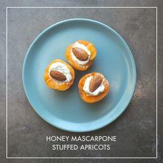Honey Mascarpone Stuffed Apricots // shutterbean