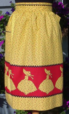Sunbonnet Sue Vintage Half Apron by TwigCottage on Etsy, $30.00