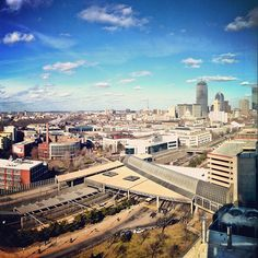 Enjoying the view of Boston from Northeastern on a beautiful day.  Photo by @xtinareynolds