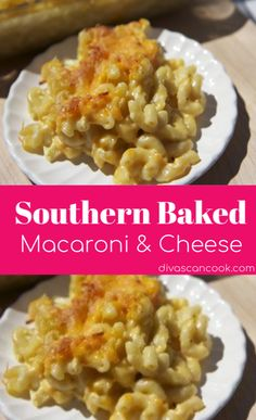 Southern Baked Macaroni and Cheese Recipe - - This southern baked macaronis and cheese is full of soul and flavor. Smoked cheddar is the secret to this truly addictive, baked macaroni and cheese recipe. Southern Baked Macaroni And Cheese Recipe, Southern Mac And Cheese, Macaroni Recipes, Mac And Cheese Homemade, Baked Mac And Cheese Recipe Soul Food, Macaroni Cheese, Easy Cheesy Mac And Cheese Recipe, Mac N Cheese Bake, Cracker Barrel Mac And Cheese Recipe