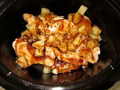 Crock Pot Pineapple Chicken Yum.
