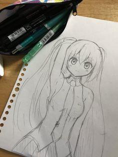 Easy Drawings Sketches, Dark Art Drawings, Anime Girl Drawings, Cute Kawaii Drawings, Manga Drawing, Anime Art Girl, Sisters Drawing, Anime Fairy, Anime Sketch