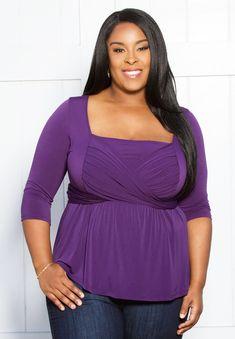 Women's Plus Size Tops | Charlotte Tie Top | SWAK Designs