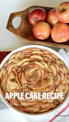 Dessert For Dinner, Eat Dessert First, Apple Cake Recipes, Dessert Recipes, Delicious Desserts, Yummy Food, Fall Recipes, Food And Drink, Easy Meals