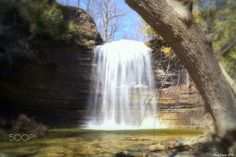 Water Falls of the county - Spring run on the falls.