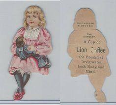 K33 Lion Coffee Die Cut Design Doll House 1890 Nursery Girl with Doll | eBay