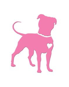 "PittieChicks - ""Pit in Pearls"" Pink Vinyl Sticker - PittieChicks"
