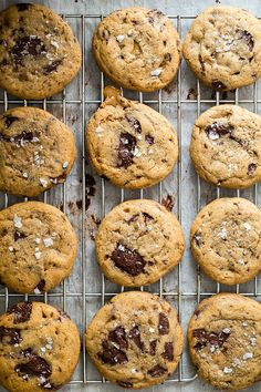 Soft and chewy salted caramel chocolate chunk cookies
