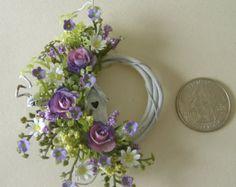 Escala de una pulgada guirnalda Floral de miniatura de