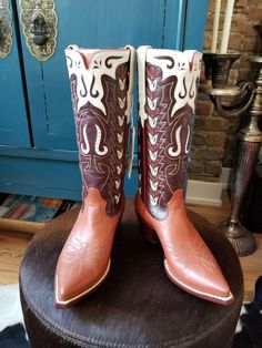 This pair is a size They have never been worn. Because they are such a small operation most of their boots are limited edition, as the pair listed here. Cool Boots, Austin Tx, Western Boots, Westerns, Vintage Inspired, Pairs, Ebay, Shoes, Women