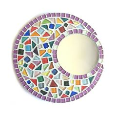 Mirror Mosaic, Mosaic Glass, Stained Glass, Sisal, Mosaic Crafts, Button Crafts, Mardi Gras, Frame, Inspiration