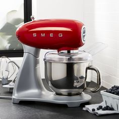 Smeg Red Stand Mixer - Crate and Barrel