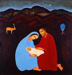 The Christmas Story Illustrated With Modern, Catholic Art- The best Merry Christmas I can give you is to repeat the simple, unvarnished story of the first Christmas paired with wonderful modern, Catholic art. Luke 2 And it came to pass in th…