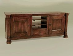 Large Distressed TV Cabinet Western Cabinets and Buffets