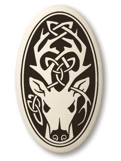 - Celtic Stag Deer Cernunnos Oval Porcelain Pendant - Protector of Nature. - Designed in Scotland, Canada, and the USA. - Descriptive card is printed Celtic Patterns, Celtic Designs, Celtic Symbols, Celtic Art, Druid Symbols, Celtic Dragon, Celtic Knots, Stag Tattoo, Symbole Viking