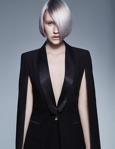 Looking for short hair inspiration? The silver lilac hues take this blonde bob from ordinary to extraordinary. From Francesco Group's 2016 Collection. Blonde Bobs, Blonde Hair, Hair Color And Cut, Bob Hairstyles, New Hair, Hair Inspiration, Lilac, Short Hair Styles, Creative