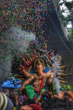 आगमनाधिश.. #ganpati #festival #celebration #people #mumbai