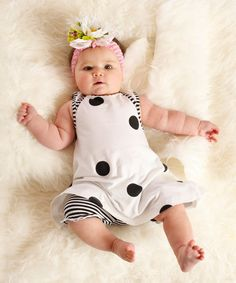 Look at this White Nina Dress & Bloomers - Infant on #zulily today!