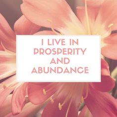 Affirmation for today :) #liveinprosperity